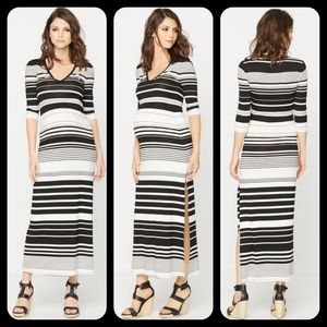 BCBGMAXAZRIA Maxi Striped Maternity Dress